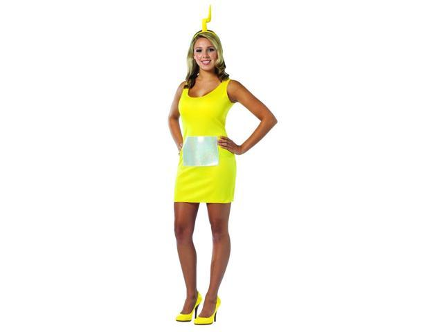 Teletubbies Laa-Laa Yellow Tank Mini Dress Costume Adult One Size Fits Most