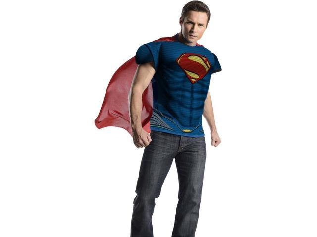 Superman Man Of Steel Muscle Chest Costume Top Adult One Size Fits Most