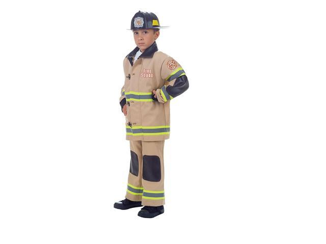 Firefighter Costume Child: Tan X-Large