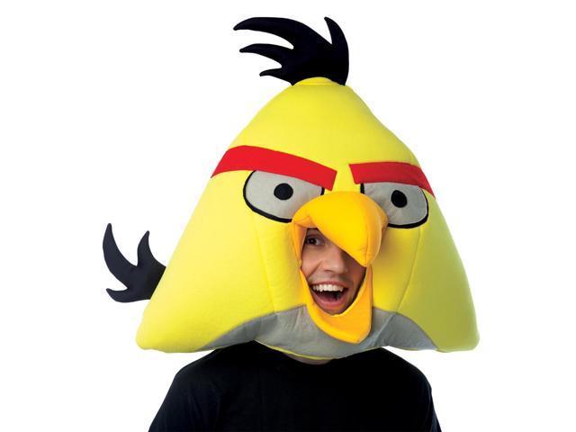 Angry Birds Yellow Bird Over The Head Foam Costume Mask