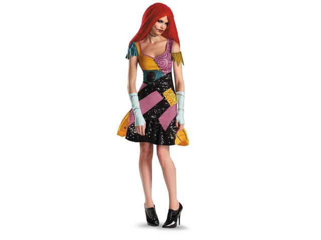 Nigtmare Before Christmas Sally Glam Adult Costume 4-6