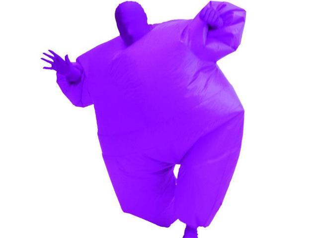 Inflatable Chub Suit Costume: Purple One Size Fits Most