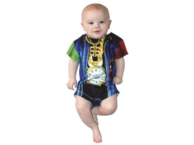 Faux Old School Rapper Costume Romper Infant 6 Months