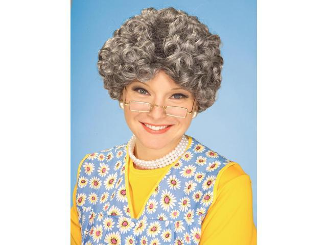 Burnett Mama Old Lady Adult Grey Costume Wig