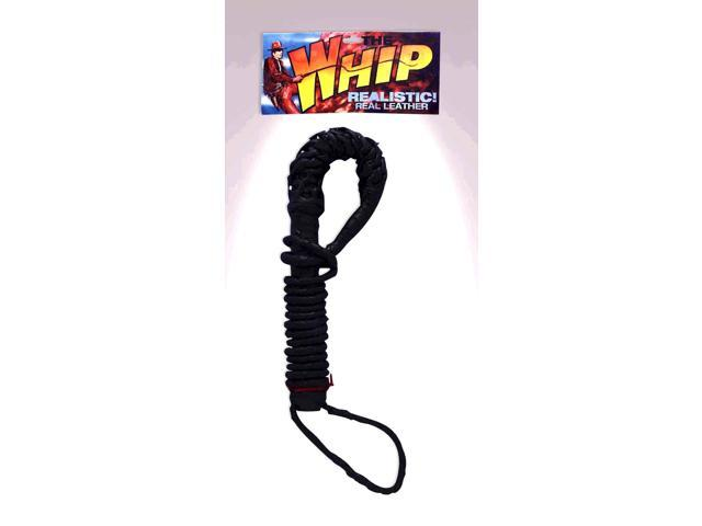 6' Black Bull Whip Costume Prop
