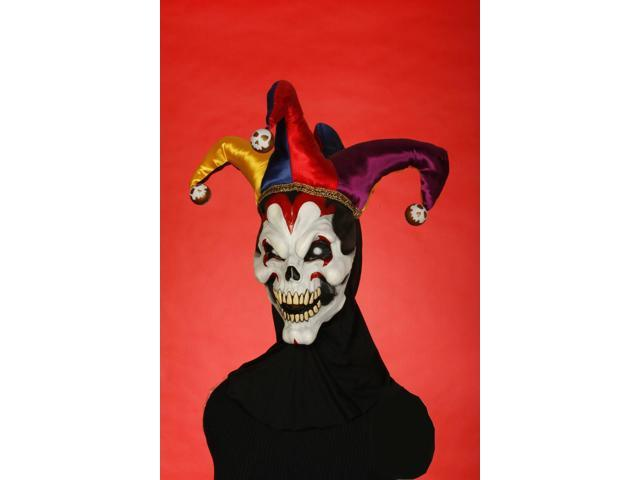 Wicked Evil Jester Adult Costume Mask