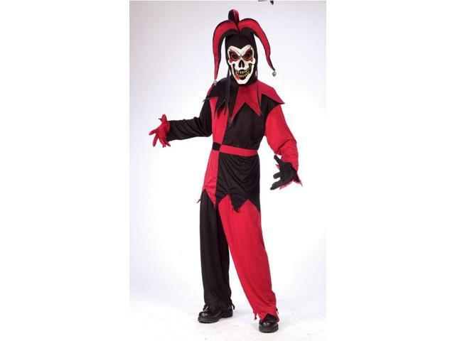 RedBlack Twisted Jester Costume Adult Standard
