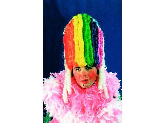 Rainbow Pride Victorian Multi Colored Costume Wig One Size