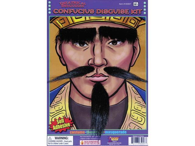 Confucius Eyebrows, Moustache & Beard Costume Accessory Set