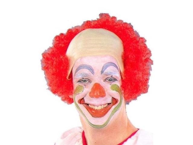 Circus Clown Baldy Costume Headpiece Accessory