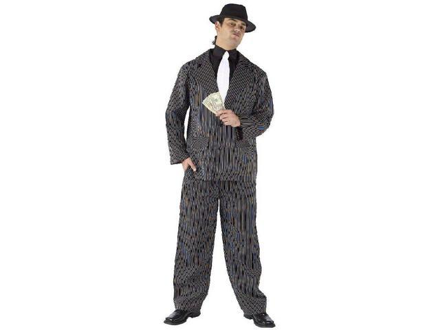 Gangster Pinstriped Suit Costume Adult One Size Fits Most