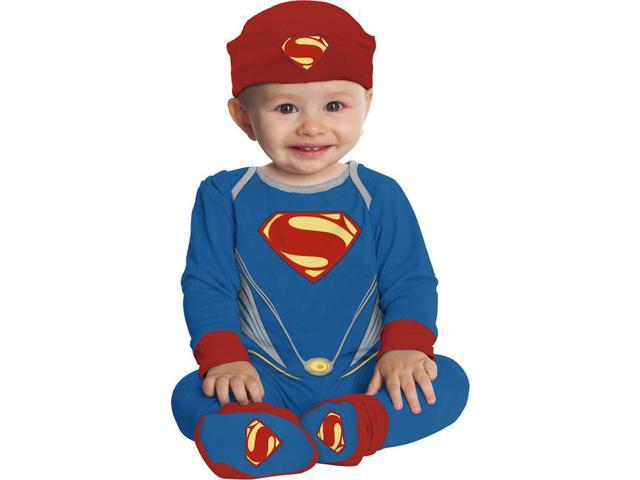 Superman Man Of Steel Onesie Costume Infant Infant 6-12