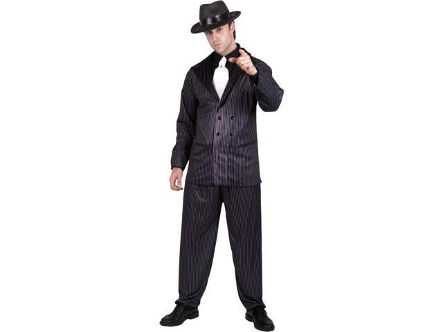 Pinstripe Gangster Costume Adult Large