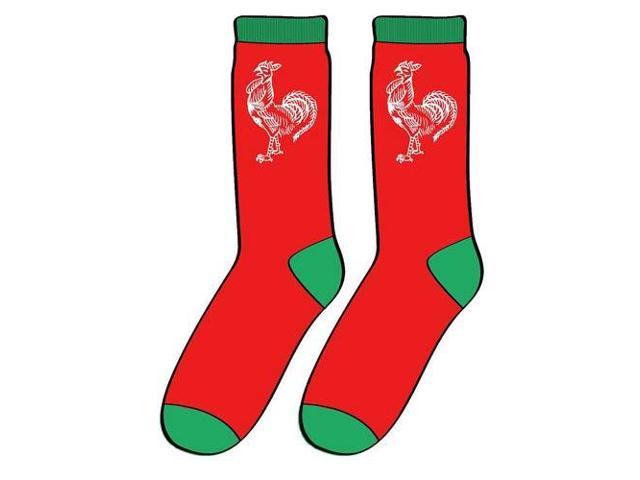 Sriracha Rooster Logo Socks One Size Fits Most