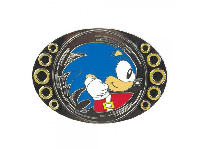 Sonic The Hedgehog Silver Coin Spinning Belt Buckle