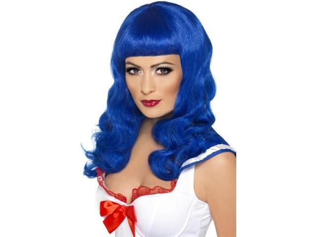 California Girl Adult Costume Wig - Blue