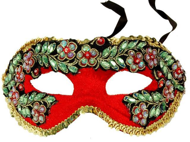 Princess Floral Adult Costume Mask Style D