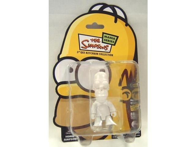 Homer Simpson 3in Qee Mania Series 1 Figure/Keychain