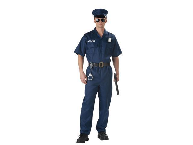 Classic Police Office Uniform Costume Adult X-Large 44-46
