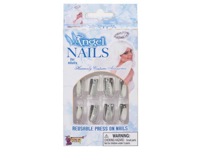 Angel Press On Nails Costume Accessory