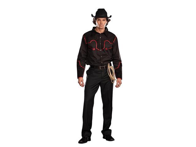 Sexy Buckin' Bronco Cowboy Costume Adult Medium