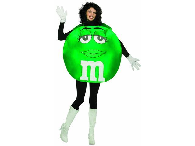 M&M Candy Green Poncho Costume Adult Standard