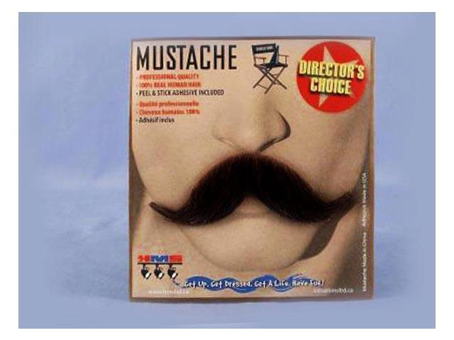 Old Western Cowboy Black Real Human Hair Adult Costume Moustache