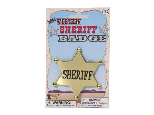 Western Cowboy Sheriff Badge Costume Accessory - Gold