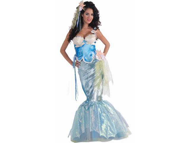 Mermaid Adult Costume With Corset Top X-Small/Small