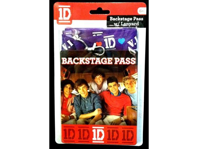 1D One Direction Backstage Pass Card W/Lanyard
