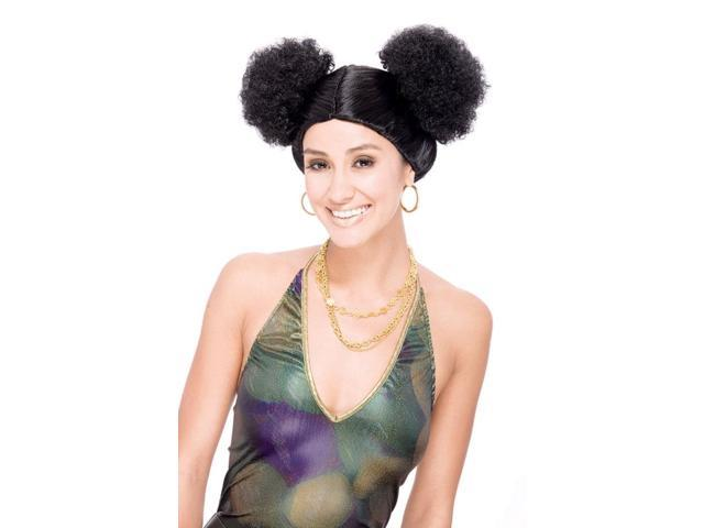 Sweetie Poof Black Adult Costume Wig One Size
