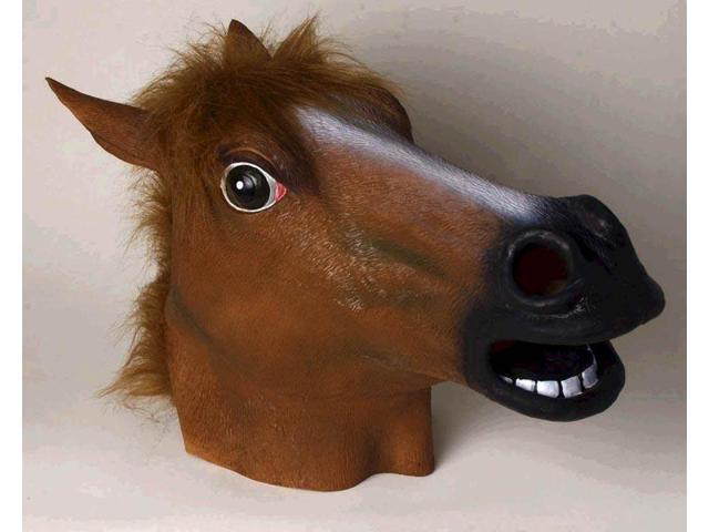 Adult Deluxe Latex Animal Costume Mask - Horse