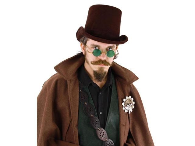 Steampunk Costume Coachman Hat Adult: Dark Brown One Size