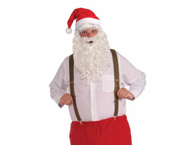 Deluxe Santa Costume Suspenders Adult One Size