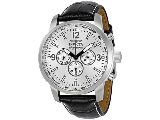Invicta Signature II Silver Dial Quartz Stainless Steel Mens Watch 7338