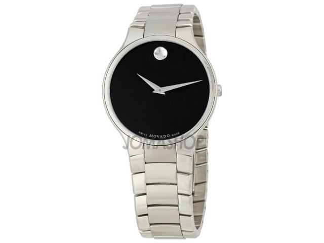 Movado Serio Black Dial Mens Watch 0606382