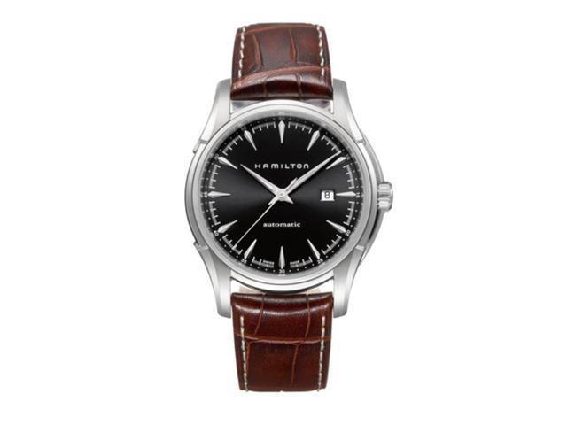 Hamilton Jazzmaster Viewmatic 44mm Brown Leather Black Dial Men's watch #H32715531