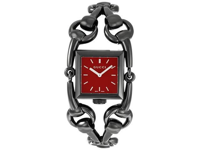 Gucci Signoria Collection Ladies Black Ion-plated Stainless Steel Watch YA116311