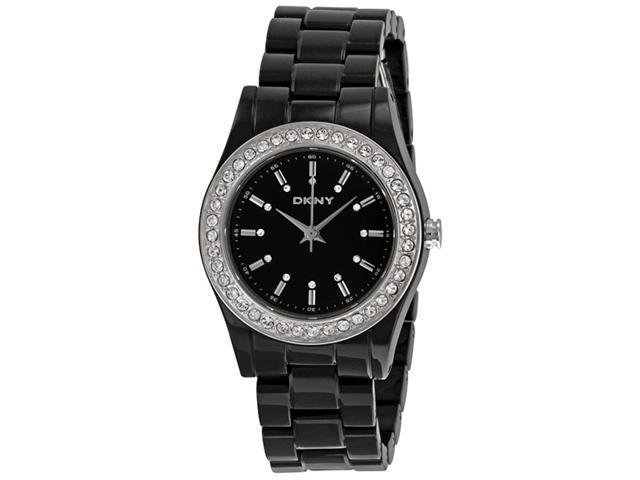 DKNY Black Plastic Ladies Watch NY8146