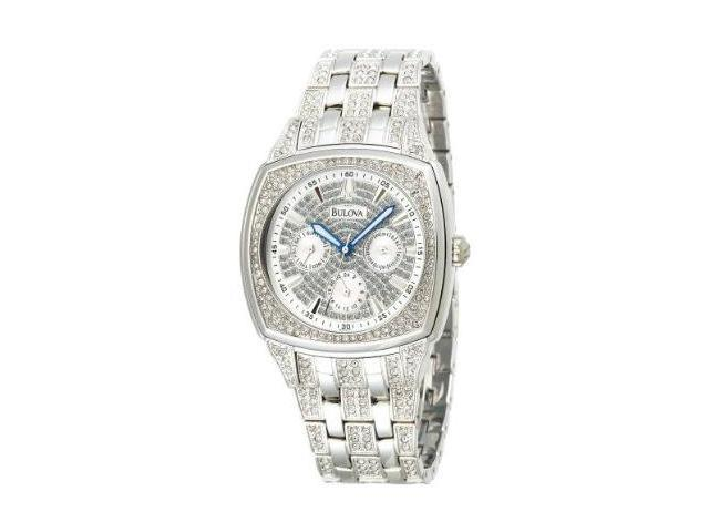 Bulova Crystal Day-Date Mens Watch 96C002