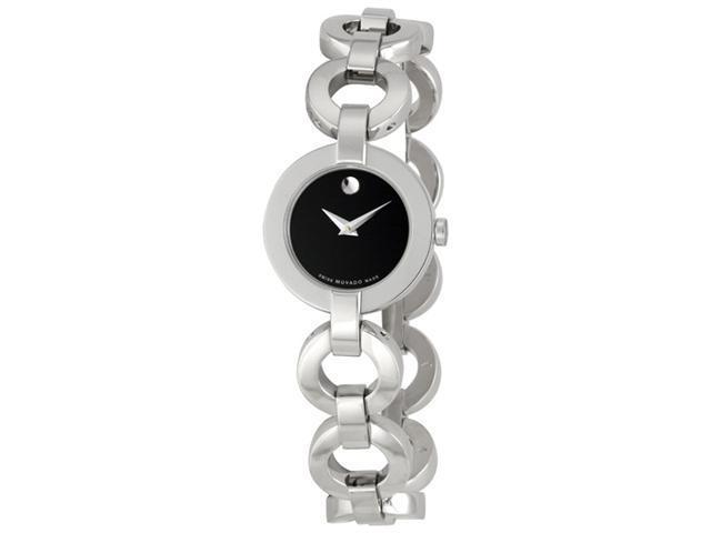 Movado Ladies Bela Moda Stainless Steel Bracelet Watch 0606260