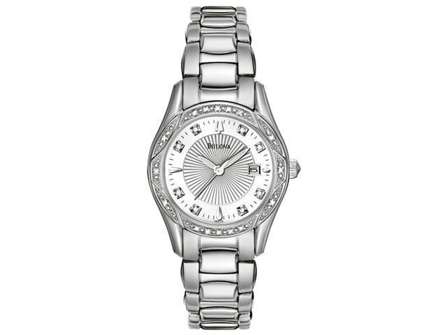 Bulova Ladies Diamond Quartz Stainless Steel Watch