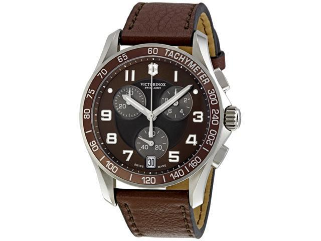 Victorinox Swiss Army Chrono Classic Brown Dial Mens Watch 241498