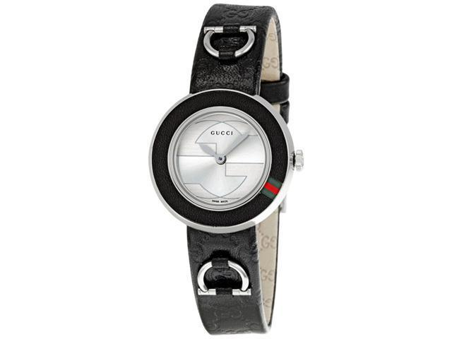 Gucci U Play Black Guccissima Leather Strap Ladies Watch YA129508