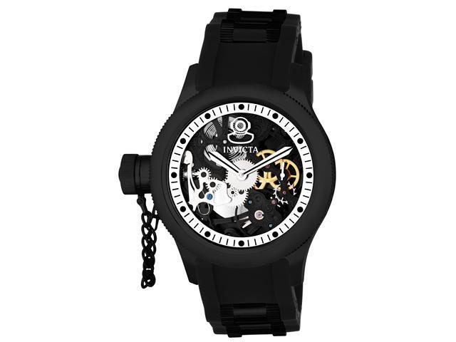 Invicta 1846 Men's Russian Diver Lefty Silver Skeleton Dial Mechanical Watch