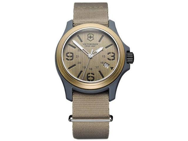 Victorinox Swiss Army Quartz Brown Dial Original Mens Watch 241516