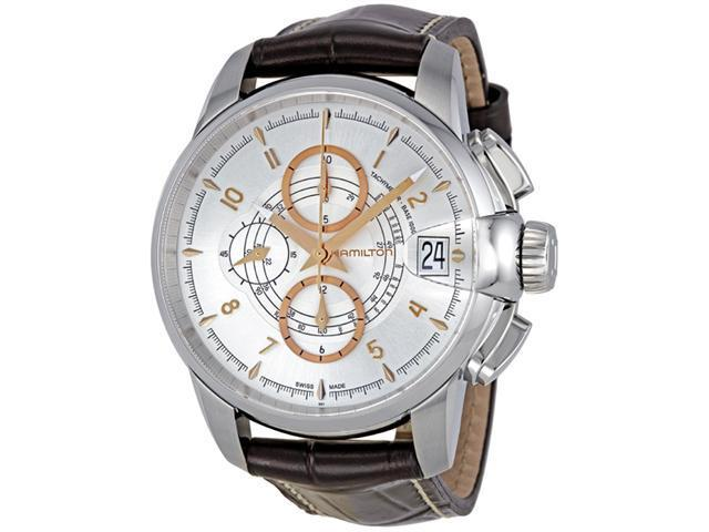 Hamilton Timeless Classic Railroad Auto Chrono Silver Dial Men's watch #H40616555