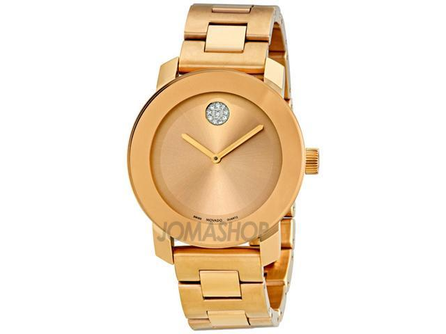Movado Bold Rose Gold-Tone Stainless Steel Watch 3600086