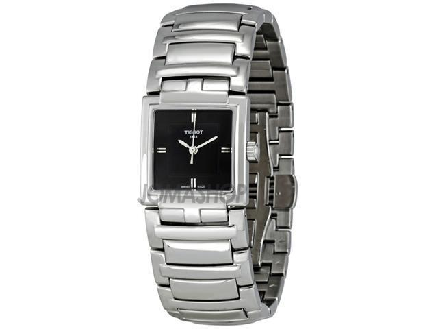 Tissot T-Evocation Black Dial Stainless Steel Ladies Watch T0513101105100