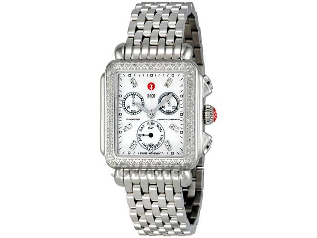 Michele Deco Day Mother of Pearl Dial Diamond Ladies Watch MWW06P000099